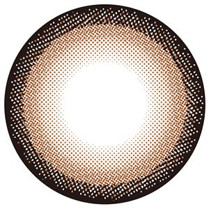ハーフシルキーブラウン:レンズ画像
